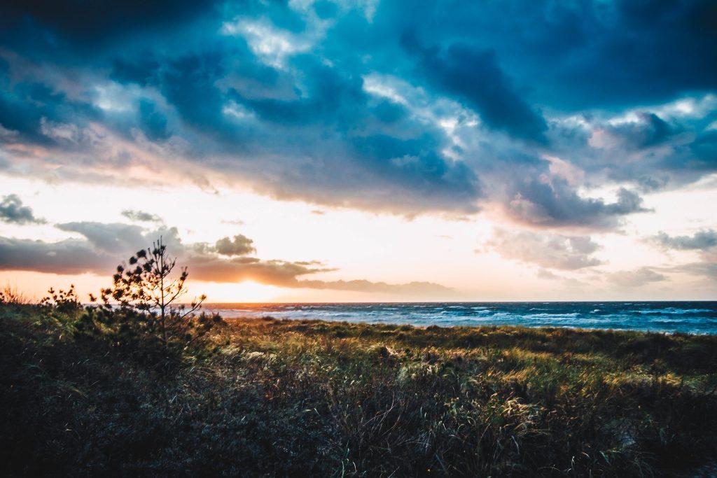 Dierhagen Sonnenuntergang Oktober 2019