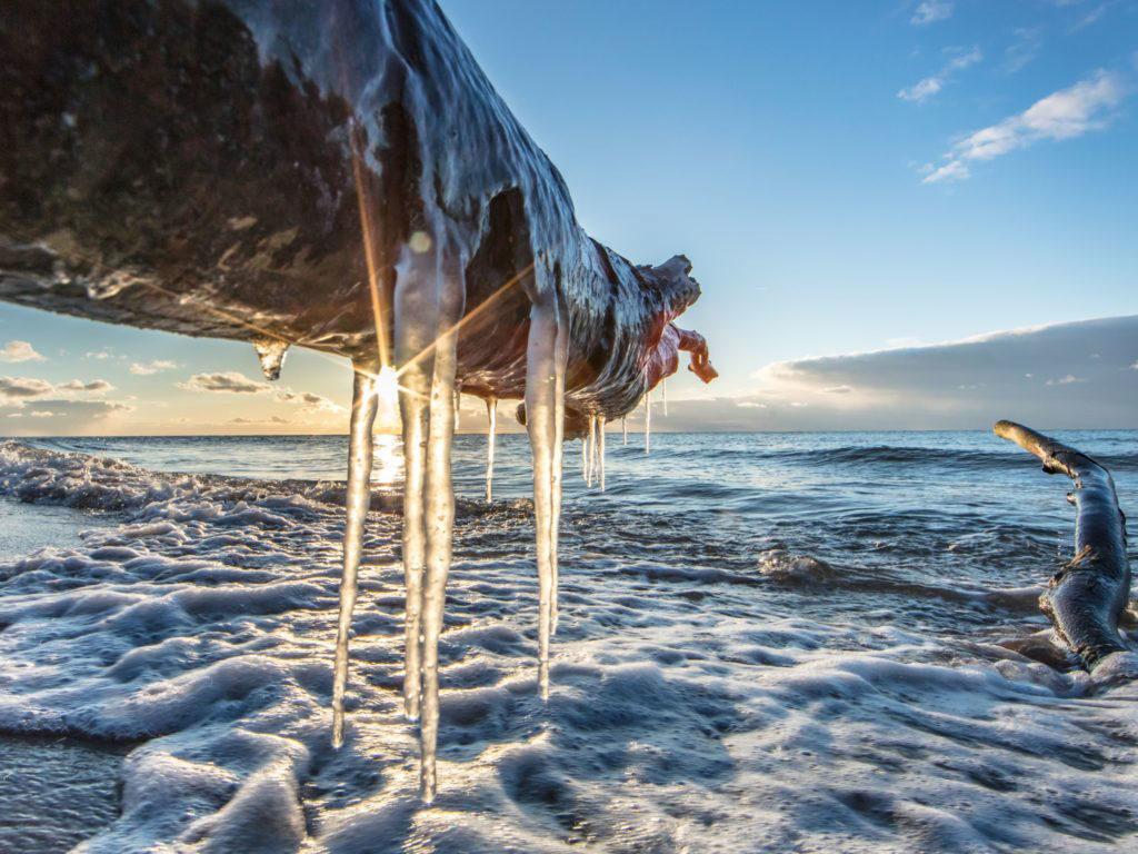 Eis an der Ostseeküste