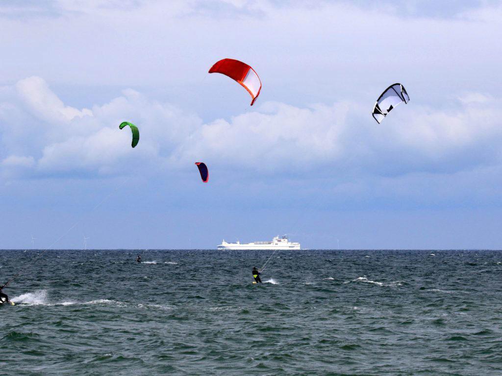 Kitesurfen bei Dierhagen