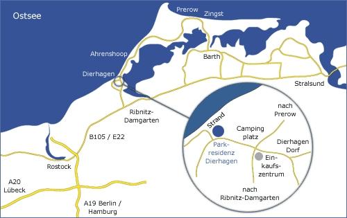 Karte01 in Das Tor zum Fischland erwartet Sie ...